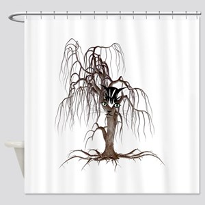 Cat Face In Tree Shower Curtain