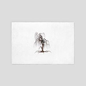 Cat Face In Tree 4' x 6' Rug