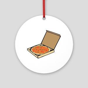 PIZZA BOX Ornament (Round)