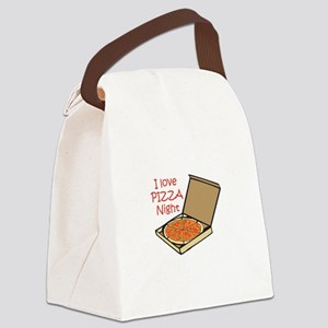 I LOVE PIZZA NIGHT Canvas Lunch Bag