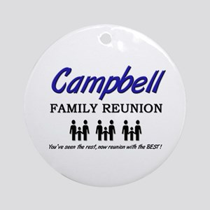 Campbell Family Reunion Ornament (Round)