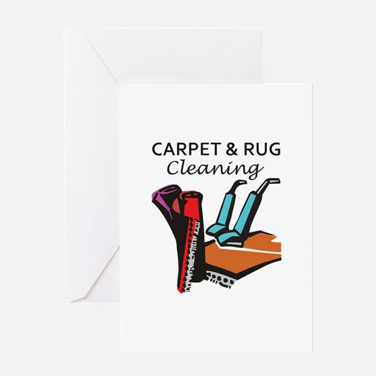 CARPET AND RUG CLEANING Greeting Cards