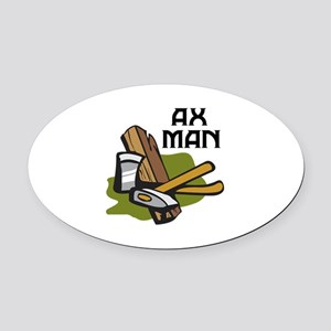 AX MAN Oval Car Magnet