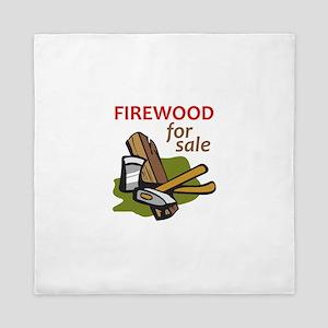 FIREWOOD FOR SALE Queen Duvet