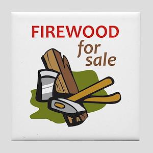 FIREWOOD FOR SALE Tile Coaster