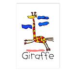 Kid Art Giraffe Postcards (Package of 8)