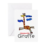 Kid Art Giraffe Greeting Cards (Pk of 10)