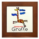 Kid Art Giraffe Framed Tile