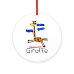 Kid Art Giraffe Ornament (Round)
