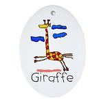 Kid Art Giraffe Oval Ornament