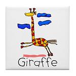 Kid Art Giraffe Tile Coaster