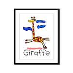 Kid Art Giraffe Framed Panel Print