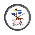 Kid Art Giraffe Wall Clock