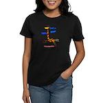 Kid Art Giraffe Women's Dark T-Shirt