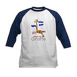 Kid Art Giraffe Kids Baseball Jersey