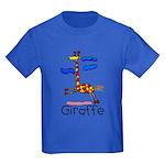 Kid Art Giraffe Kids Dark T-Shirt