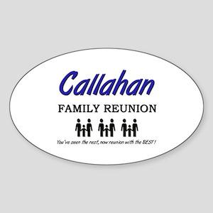 Callahan Family Reunion Oval Sticker