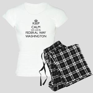 Keep calm we live in Federa Women's Light Pajamas