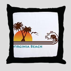 Virginia Beach Throw Pillow