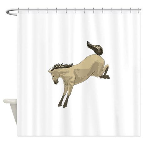 Cool Bucking Bronco Shower Curtain With Broncos Curtains.