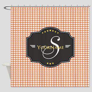 Houndstooth Custom Monogram Pattern Shower Curtain