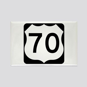 US Route 70 Rectangle Magnet