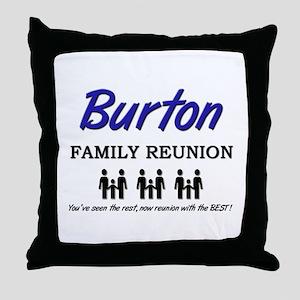 Burton Family Reunion Throw Pillow