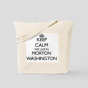 Keep calm we live in Morton Washington Tote Bag