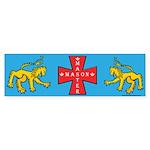 Master Masons Cross Bumper Sticker