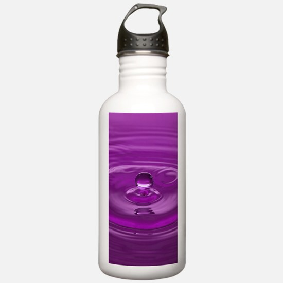 Purple Water Drop Water Bottle