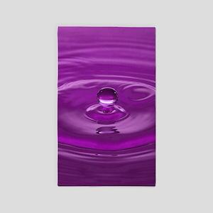 Purple Water Drop Area Rug