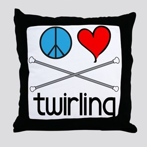 Peace Love Twirling Throw Pillow