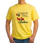 Navy Father Yellow T-Shirt
