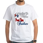 Navy Father White T-Shirt