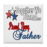Navy Father Tile Coaster