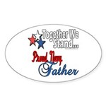 Navy Father Oval Sticker