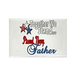 Navy Father Rectangle Magnet (100 pack)