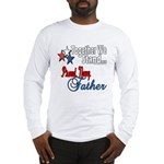 Navy Father Long Sleeve T-Shirt