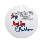 Navy Father Ornament (Round)