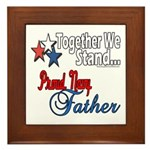 Navy Father Framed Tile