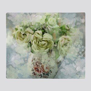french country flowers Throw Blanket