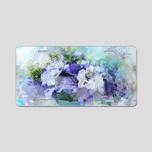 french country flowers Aluminum License Plate