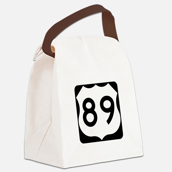 US Route 89 Canvas Lunch Bag
