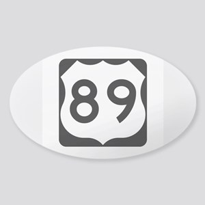 US Route 89 Sticker (Oval)