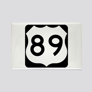 US Route 89 Rectangle Magnet