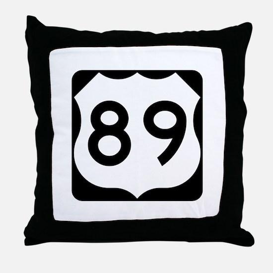 US Route 89 Throw Pillow