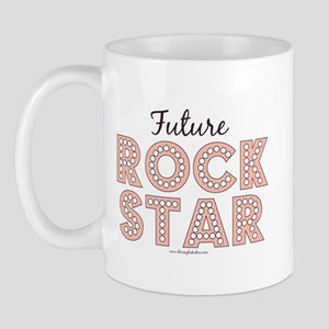 Pink Brown Future Rock Star Mug