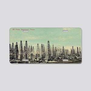 Oilfield, Beaumont Texas Aluminum License Plate