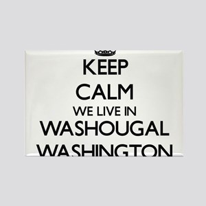 Keep calm we live in Washougal Washington Magnets