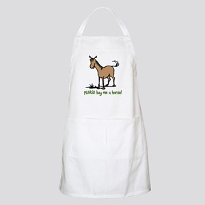 Buy me a horse saying BBQ Apron